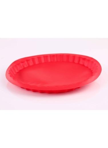 Kırmızı Muffinform Silikon Büyük Kek Kalıbı-Dekotrends